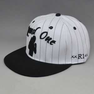 white black stripe 3D embroidery custom snapback cap