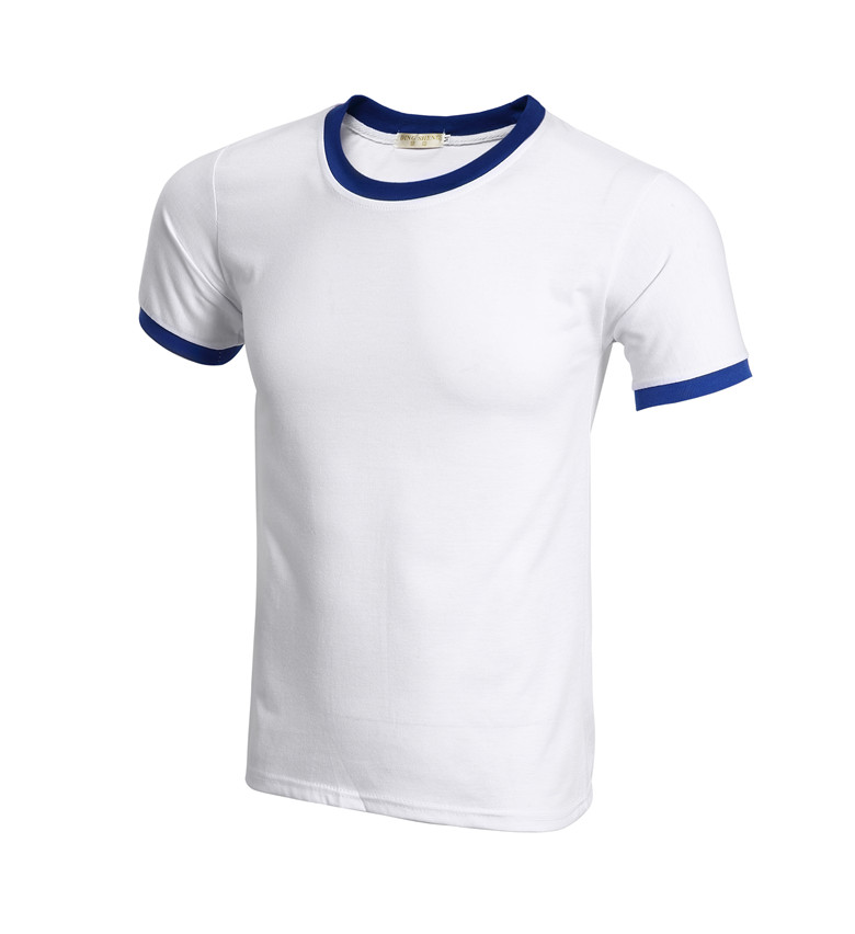 guangzhou factory offer colorfull blank round neck t-shirt with custom print logo delivery in 3days