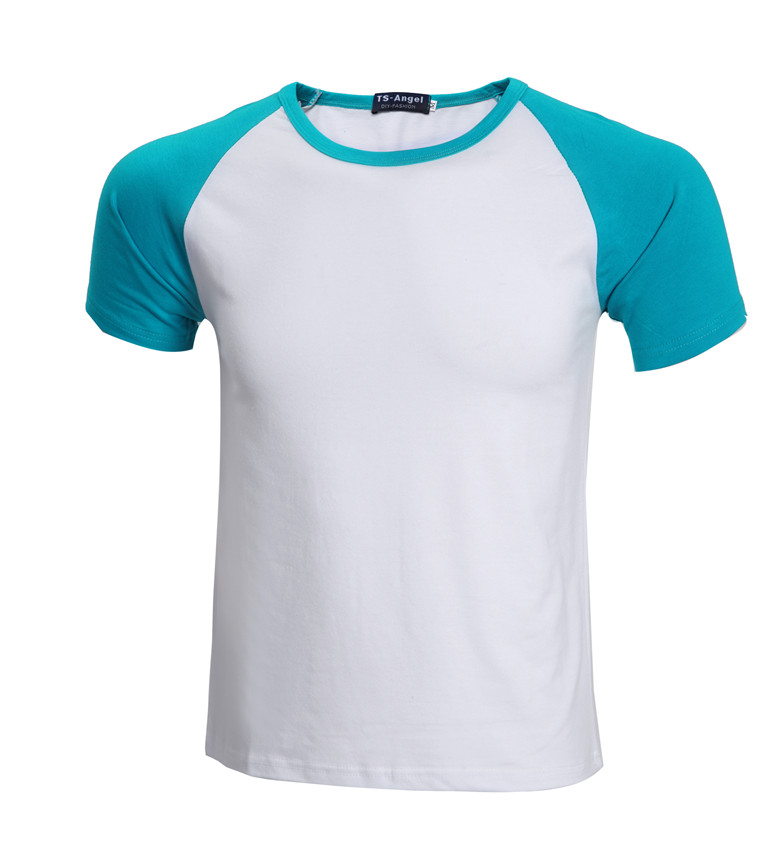 100%cotton mix colors shoulders t-shirt wholesale